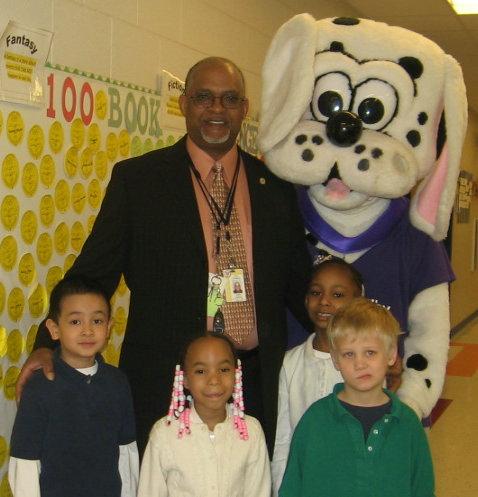 Jim Shealey with kids